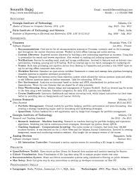Resume Latex Template Cover Letter Sample