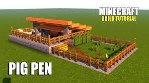 Pig Enclosure Design Minecraft How To Make A Pig Pen Survival House Tutorial 2017