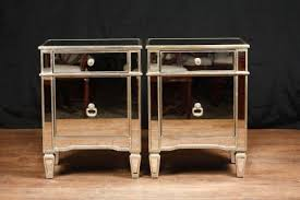 borghese mirrored furniture. Pair Mirror Bedside Cabinets Tables Chests Nightstands Borghese Mirrored Furniture