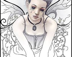 Printable Gothic Fairy Coloring Pages Color Bros