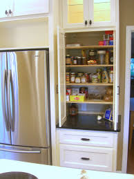 Kitchen, Skinny Kitchen Cabinet Roll Out Pantry Next To Fridge Small  Kitchen Pantry Ideas Mixed