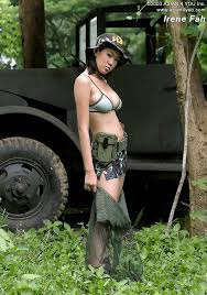 Topless Asian Army Girls Nude Photos