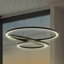 vonn lighting tania trio 32 inches led adjule hanging light modern circular chandelier lighting in