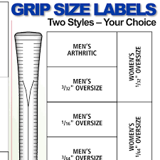 Grip Size Labels Chart Ralph Maltby