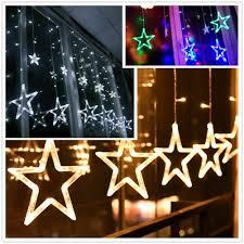 Details Zu 138led Star Stern Lichterkette Lichtvorhang Fenster Weihnachten Beleuchtung Deko