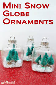 Snow Globe Mini Christmas Ornaments Tutorial
