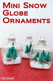 Snow Globe Mini Christmas Ornaments Tutorial
