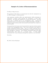 Referral Letter For Employment Sample Recommendation Letter From Employer Green Brier Valley