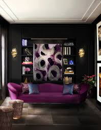 Purple Paint For Bedrooms Decorations Bedroom Design Black Wall Paint Pendant Lamp White