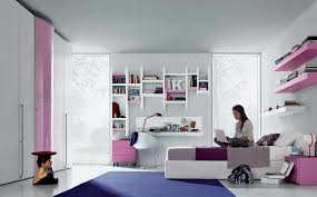 Contemporary Teen Girl Bedroom With Smart Wall Shelving And Sleek Furnishing