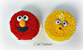 Sesame Birthday With Elmo And Big Bird Smash Cakes Cake By Donna