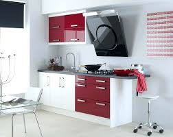 decorations quirky kitchen wall color schemes idea using red and