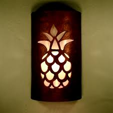 southwest ceramic lighting pineapple antique copper