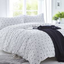 stars navy blue 200tc organic cotton percale duvet cover collection