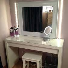 Bedroom Vanity With Lights Makeup Vanity Table Set With Lights ...