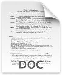 Resume Doc Format. Resume Doc Format Job Cv Sample Doc With Sample ...