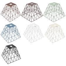 Elektek Vintage Boda Square Polyangle Cage Wire Frame Lamp Shade