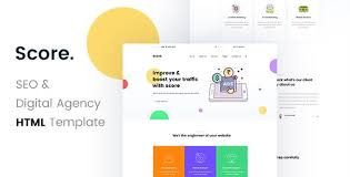 Portfolio Website Templates Mesmerizing Score SEO Digital Agency HTML48 Template Pinterest Template