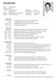German Resume Template