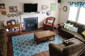 Light Blue And Brown Decor Brown And Blue Living Room Decorating Ideas Tags Good Dark
