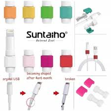 <b>Suntaiho</b> Lightning Cable Anti-break Data Cable Protection Sleeve ...