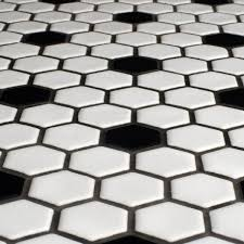 black and white hexagon tile floor.  White Inside Black And White Hexagon Tile Floor Wayfair