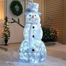 led snowman outdoor decorations yard decor lights figures lighted . Led Snowman Outdoor 6 Collapsible