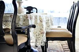 how to put a square tablecloth on a round table home table linen for oval tables