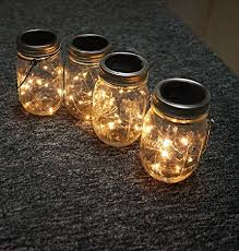lighting jar. Amazon.com : Solar Mason Jar Hanging Lights, 4 Pack 20 LEDs (Mason \u0026 Hanger Included) Warm White Waterproof Fairy Firefly Led String Lighting L