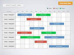 Keynote Template Gantt Chart Year