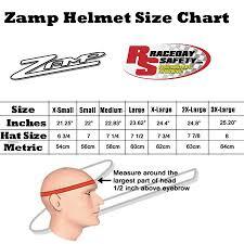 Zamp Helmet Size Chart