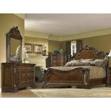 Old World 4 Piece King Bedroom Set in Cherry