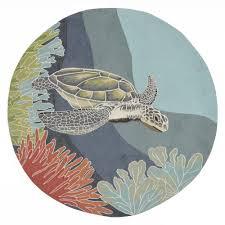 sinclair ocean turtle ocean 8 ft x 8 ft indoor outdoor round area