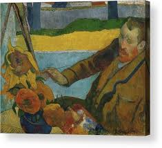 paul gauguin acrylic print featuring the painting vincent van gogh painting sunflowers by paul gauguin