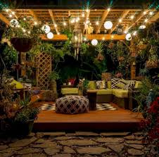 Small Backyard Lighting Ideas Backyard Lighting Ideas Jihanshanum Terrace Garden