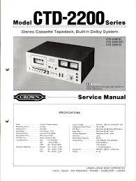 vintage technics crown ctd  wiring diagrams crown ctd 2200