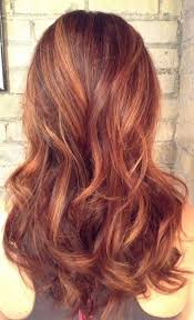 Natural Red Balayage With Rose Gold