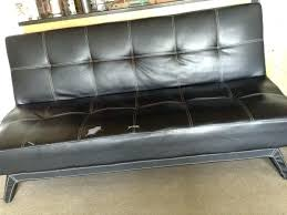 leather hide a bed couch excellent black sleeper for century city intended white sofa ikea