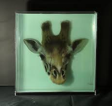 3d paintings on layers of glass by yosman botero