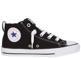 converse all star black. converse chuck taylor all star street mid black natural white angle 2 k