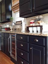 kitchens with painted black cabinets. Delighful Kitchens Painted Kitchen Cabinets With General Finishes Lamp Black Milk Paint And D  Lawless Hardware Throughout Kitchens With Cabinets I