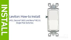 leviton presents how to install a light switch within single pole how to wire a light switch and outlet at Install Light Switch Diagram