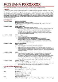 Gallery Of Clinical Psychology Cv Examples Psychology Cvs Livecareer