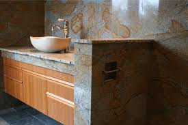 bathroom vanity granite backsplash. Granite Vanity Full Height Backsplash With Vessel Sink Bathroom T