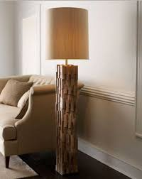natural wood floor lamp that made of mango wood and iron