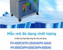 Quạt điều hòa hơi nước PH-6000CN Inverter Quạt THÁI siêu mát 100% Tặng 2  viên đá khô Tiết kiệm điện PENHOSE
