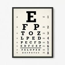 Logmar Snellen Chart Eyechart Art Print Digital Download Snellen Eye Chart