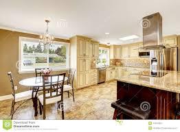 Big Kitchen Table kitchen interior with dining table set and island stock photo 1271 by uwakikaiketsu.us
