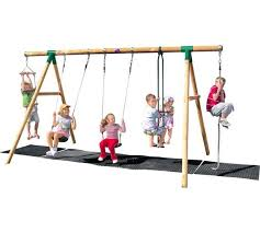 wooden garden swing set at argos co uk