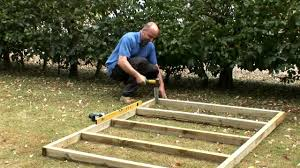 how to build a wooden base for a shed